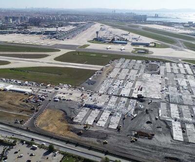 Atatürk Havalimanı'ndaki hastane inşaatında bina yapımı başladı