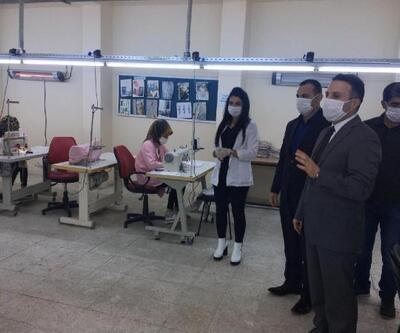 Kahta'da öğrencilerin ürettikleri 10 bin maske ücretsiz dağıtılacak