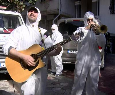 Esenyurt'ta müzikli sokak dezenfeksiyonu