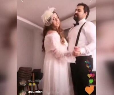 Düğünü sosyal medyada yaptılar