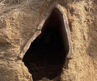 1500 yıllık kiremit mezar ortaya çıktı