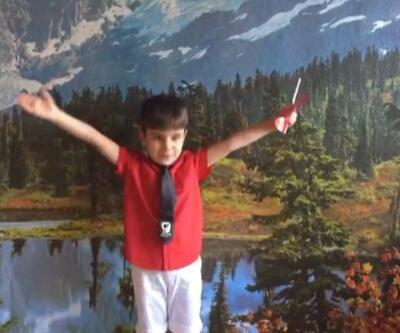 5 yaşındaki Çınar'dan 23 Nisan şiiri