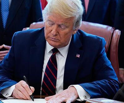 Trump imzayı attı! 2 ay askıya alındı