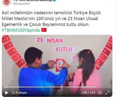 MSB'den videolu '23 Nisan' paylaşımı