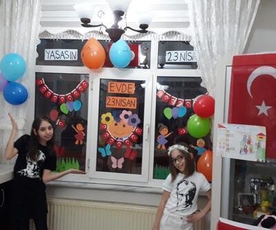 Çocuklar bayramlarını evlerinde kutladı