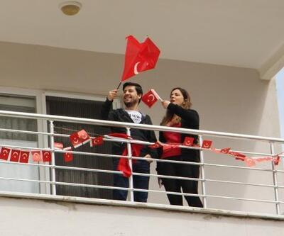 Isparta'da site sakinleri bayramı kutladı