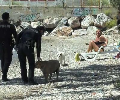 Yasağa uymadı, sahilde güneşlenirken yakalandı