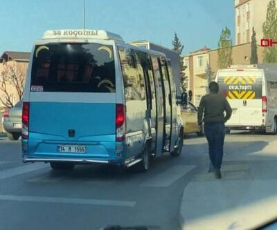 Kural ihlali yapan minibüs güzergah değiştirdi