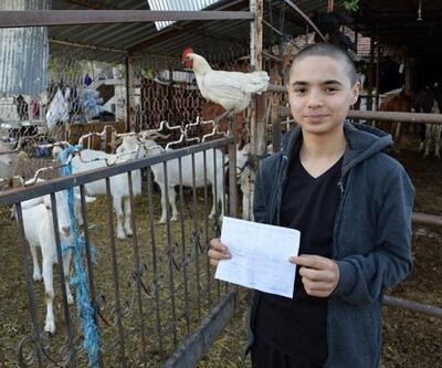 Liseli Harun, öğrenim bursunu dayanışma için bağışladı
