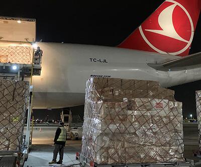 Türkiye'nin Filistin'e gönderdiği tıbbi malzeme Tel Aviv'e ulaştı