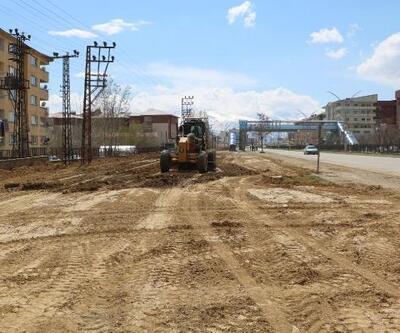 Yüksekova'da yürüyüş parkuru yapılıyor