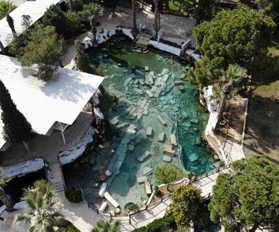 2 bin 500 yıllık antik havuz ve çevresi bomboş