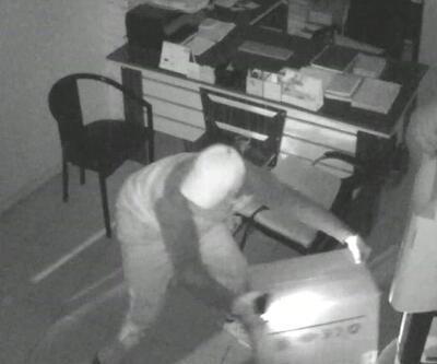 Kombi hırsızları kamerada