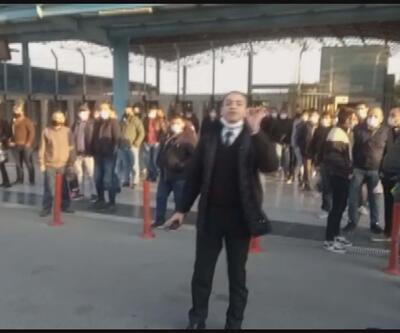 İETT durağında otobüs isyanı