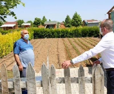Meram Belediyesinin hobi bahçelerinde ekim zamanı