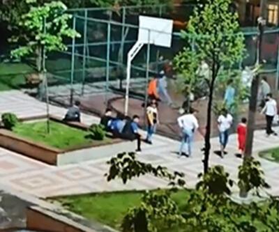 Basketbol oynayan çocuklar polise yakalandı