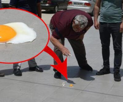 Yer: Adana... Rekor sıcakta yolda yumurta pişirdiler