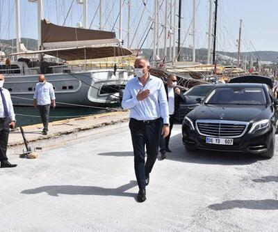 Kültür ve Turizm Bakanı Ersoy, Bodrum Kalesi'nde incelemelerde bulundu: