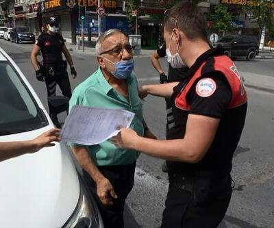 İzin kağıdı kontrol edilen vatandaş polisin üzerine yürüdü