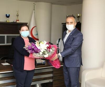 Bursa Büyükşehir Belediye Başkanı Aktaş'tan Selma hemşireye moral ziyareti