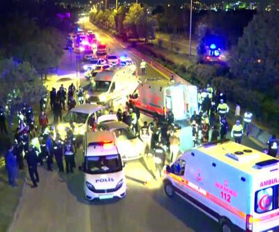 Başkent'te alkollü sürücü polis uygulama noktasına aracıyla daldı