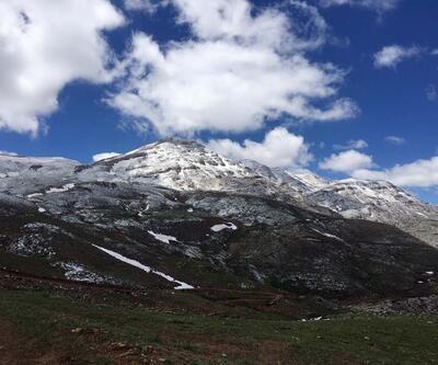 Antalya'ya mayıs karı yağdı