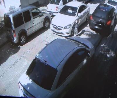 Çocuğa otomobil çarpması kamerada