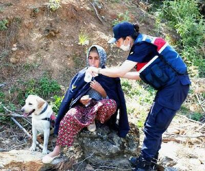 Kayıp kadın 2 gün sonra ormanlık alanda bulundu