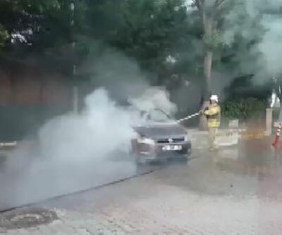 Silivri'de otomobil, Çatalca'da TIR dorsesi yandı