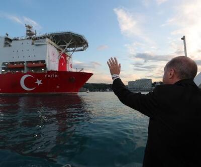Erdoğan Karadeniz'e açılan Fatih Sondaj Gemisini selamladı