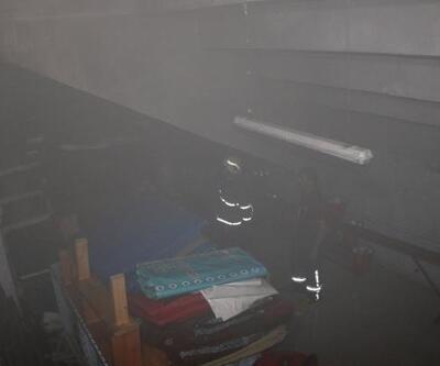 Boş spor salonunda çıkan yangın, söndürüldü