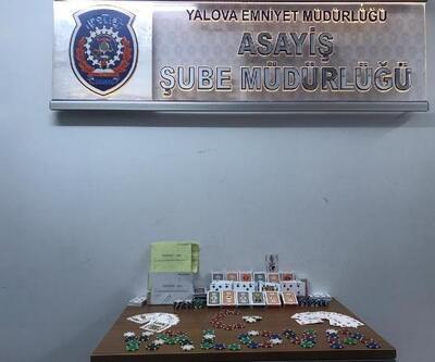 Yalova'da kumar baskınında 9 kişiye para cezası
