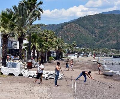 Marmaris plajlarında 'tedbirli sezon' hazırlığı