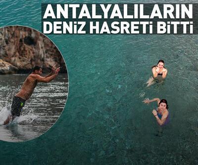 Antalyalılar denize kavuştu