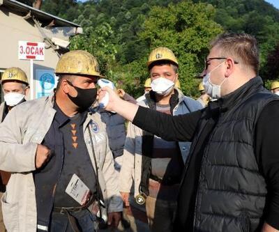 Zonguldak'ta maden işçileri tedbirlerle işbaşı yaptı