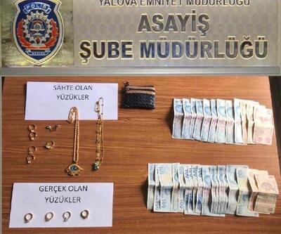 Kuyumcudan 4 tektaş çalan çift tutuklandı