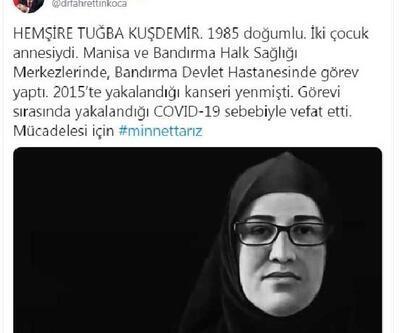 Bakan Koca'dan, 'Tuğba hemşire' paylaşımı