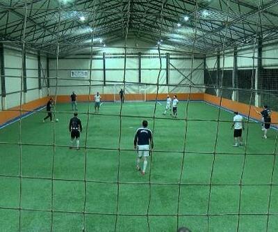 Halı sahalar açıldı ve ilk maçlar yapıldı