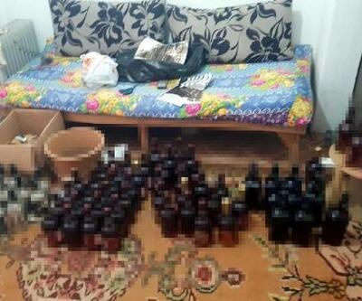 İzmir'de sahte içki üretimi yapılan eve baskın: 2 gözaltı