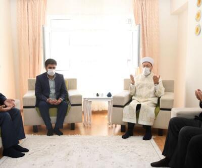 Diyanet İşleri Başkanı Erbaş'tan Barış Çakan'ın ailesine taziye ziyareti