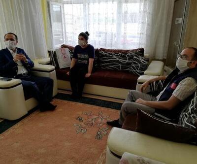 Bayramiç'te sınav öncesi öğrencilere moral ziyareti