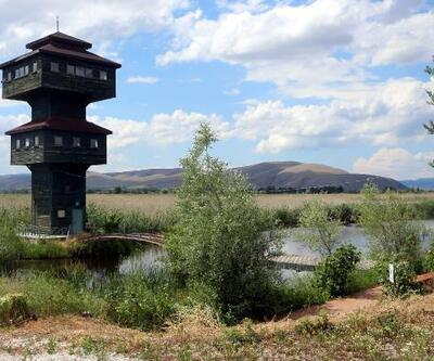 Kaz Gölü ziyaretçilerini bekliyor