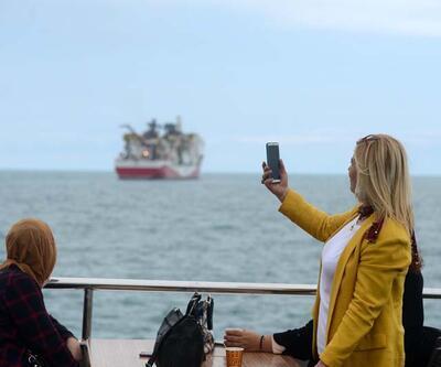 Fatih Sondaj Gemisi, Trabzon Limanı'na yanaştı