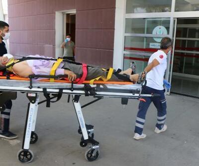 İskeleden düşen inşaat işçisi yaralandı