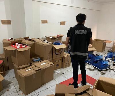 İstanbul'da 2 ton kaçak nargile tütünü ele geçirildi