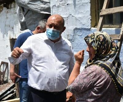 Gönen Belediye Başkanı Palaz'dan evleri yanan aileye yardım