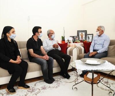 Başkan Güder'den, şehit babasına babalar günü ziyareti