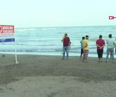 Oğlunu kurtarmak için denize atlayan baba boğuldu | Video