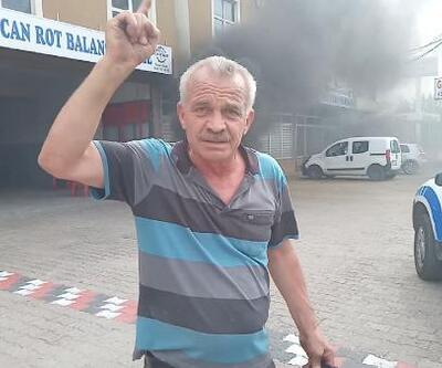 Son dakika: Okan Kocuk'un babası hakeme tepki için lastik yaktı   Video