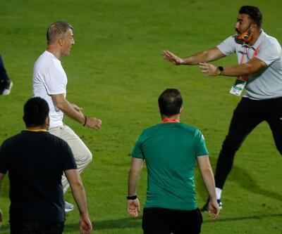 Ahmet Ağaoğlu sahaya indi, kavga çıktı